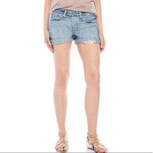 Lucky Brand Distressed Ripped Boyfriend Shorts